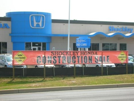 MESH017 - Custom Mesh Banner and Building Wrap for Auto Dealerships & Services